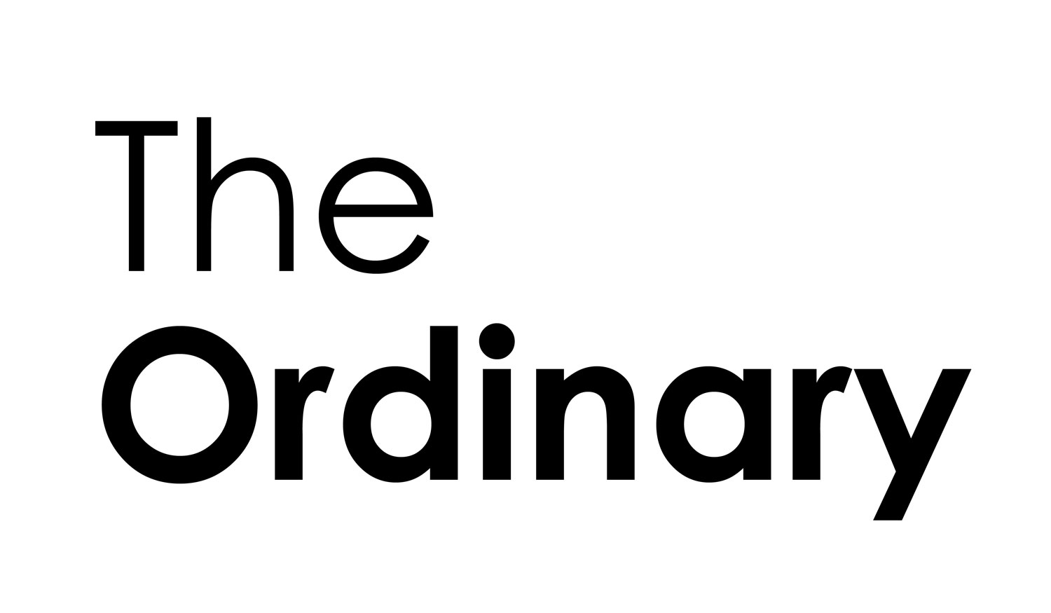 The ordinary logo