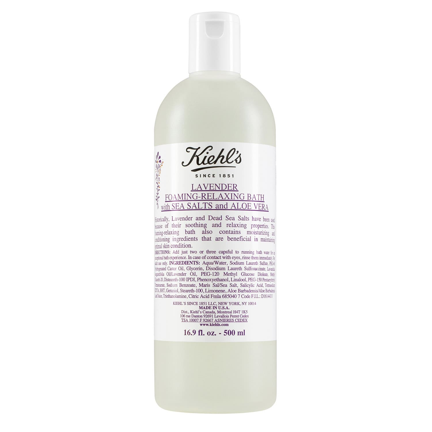 Lavender foaming relaxing bath with sea salts and aloe 3700194712198 169floz