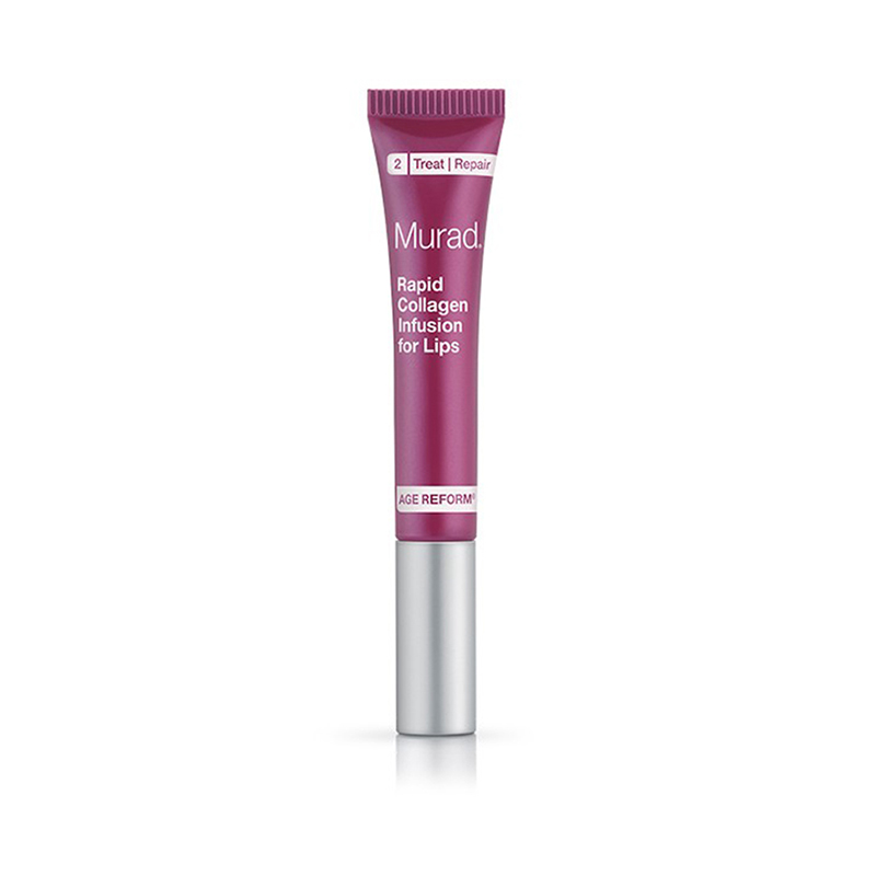 Rapid collagen infusion for lips