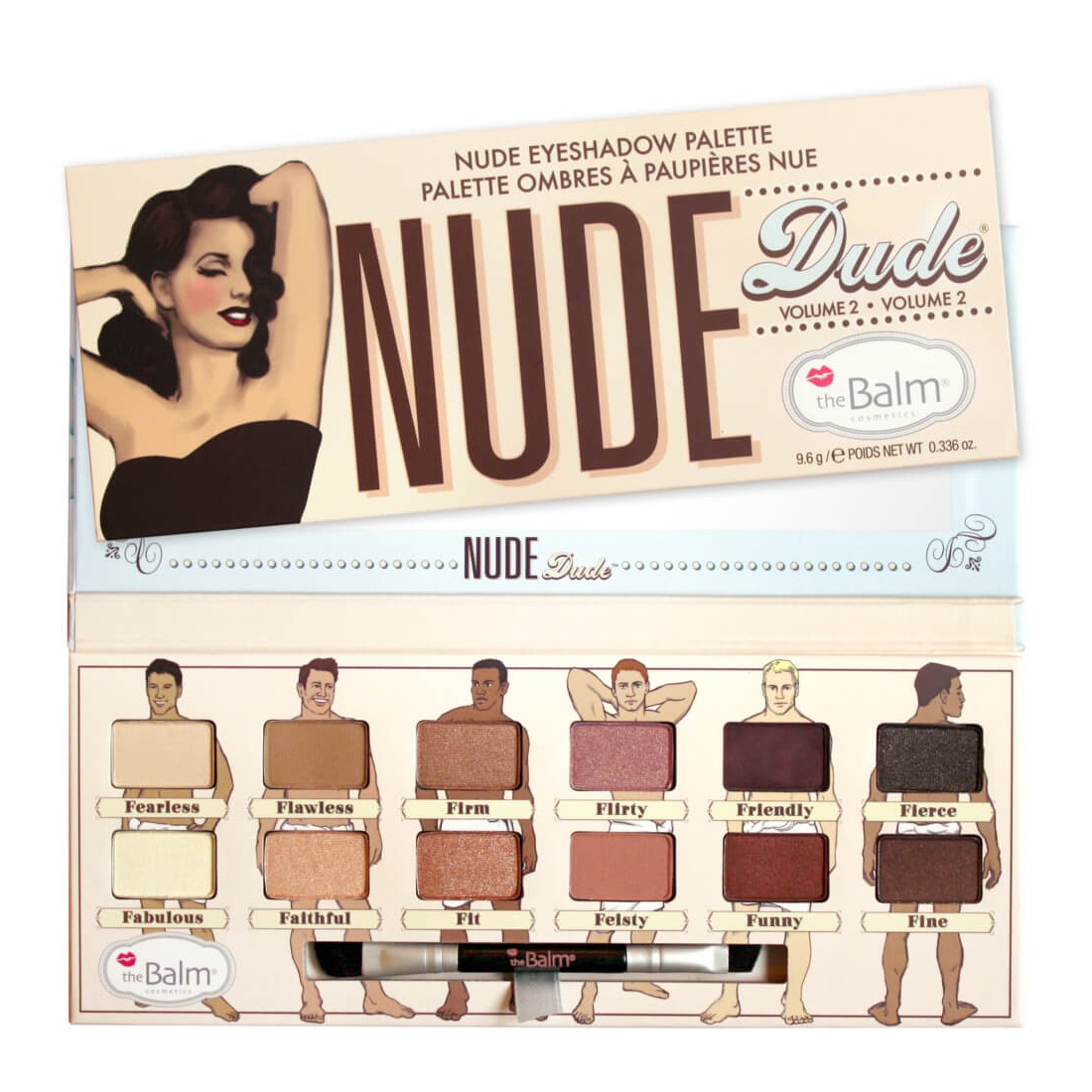 Nude dude eyeshadow palette 96g the balm