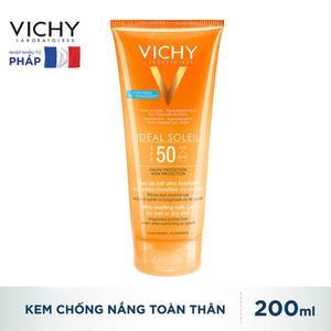 VICHY-KEM CHỐNG NẮNG TOÀN THÂN DẠNG GEL SỮA KHÔNG GÂY NHỜN RÍT SPF50+ 200ML