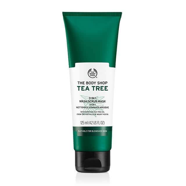 Tea tree 3 in 1 wash scrub mask 1 640x640