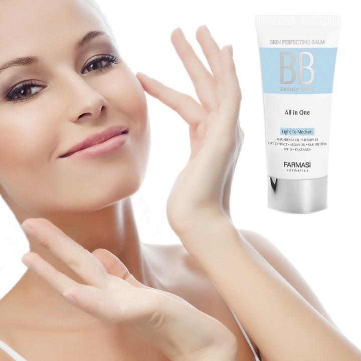 Kem bb trang diem bb cream 7 in 1 color control farmasi 50ml