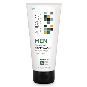 Andalou cannacell mens skin care refreshing face wash