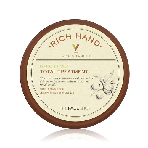 Kem duong da tay chan the face shop rich hand and foot total treatment  500x500