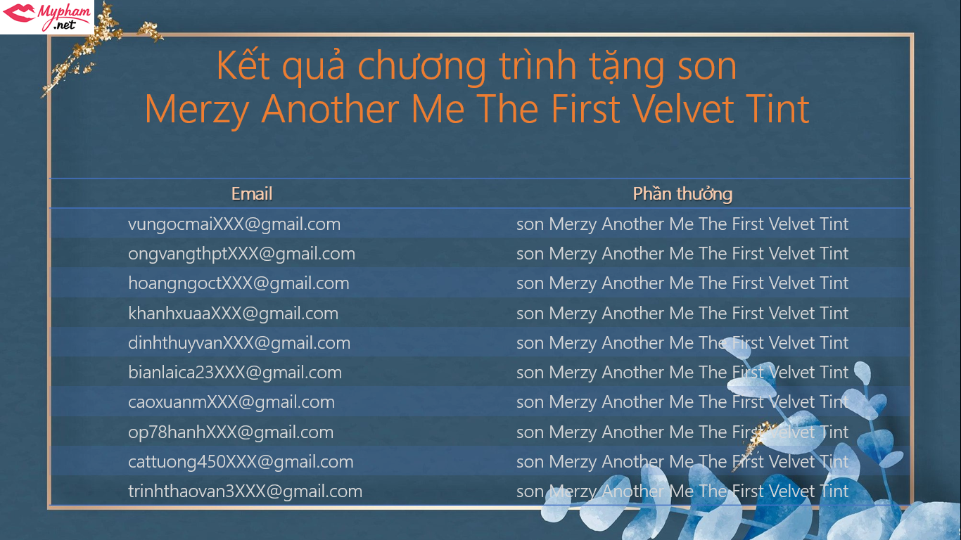 [KẾT QUẢ] MINIGAME tặng son Merzy Another Me The First Velvet Tint